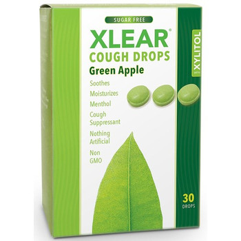 Xlear Throat Drops - Green Apple - Case of 12 - 30 count