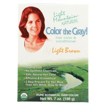 Light Mountain Hair Color - Color The Gray! Light Brown - Case of 1 - 7 oz.