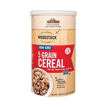 Woodstock 5 Grain Cereal - Case of 12 - 18.5 oz.