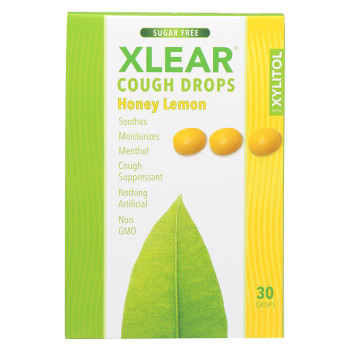 Xlear Throat Drops - Honey Lemon - Case of 12 - 30 count