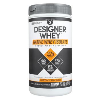 Designer Whey Protein Powder - Chocolate Milkshake - 1.85 Lb