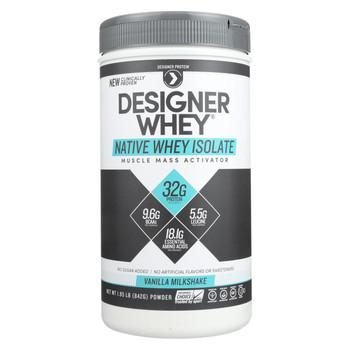 Designer Whey Protein Powder - Vanilla Milkshake - 1.85 Lb
