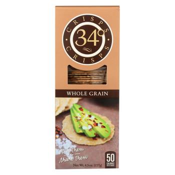 34 Degrees - Crisps - Whole Grain - Case of 18 - 4.5 oz.