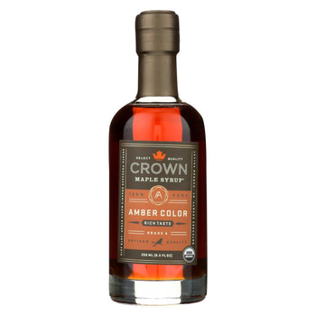 Crown Maple Syrup - Amber Color And Rich Taste - Case of 8 - 8.5 fl oz.