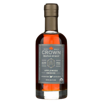 Crown Maple Syrup - Applewood Smoked - Case of 8 - 8.5 fl oz.