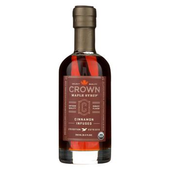 Crown Maple Syrup - Cinnamon Infused - Case of 8 - 8.5 fl oz.