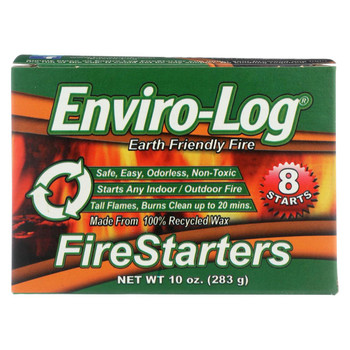 Enviro Log Firestarters - 8 Ct - Case of 12 - 10 oz