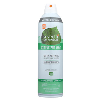 Seventh Generation Spray Disinfectant - Eucalyptus Spearmint Thyme - Case of 8 - 13.9 oz