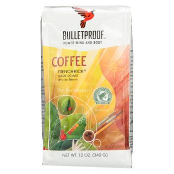 Bulletproof Coffee - French Kick Whole Bean - Case of 6 - 12 oz.