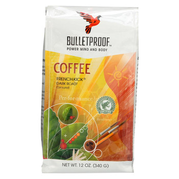 Bulletproof Coffee - French Kick Ground - Case of 6 - 12 oz.
