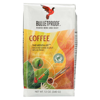 Bulletproof Coffee - The Mentalist Whole Bean - Case of 6 - 12 oz.
