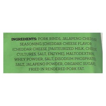4505 - Pork Rinds - Chicharones - Jalapeno Cheddar - Case of 12 - 2.5 oz