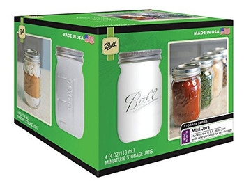 Ball Canning Jar - Mini - Storage - 4-Pak - Case of 6 - 4/4 oz