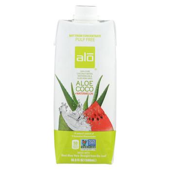 Alo Drink - Aloe Coco - Watermelon - Case of 12 - 16.9 fl oz