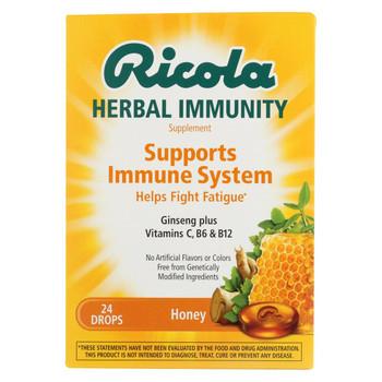 Ricola Immunity - Honey - Lozenges - Case of 24 - 24 count