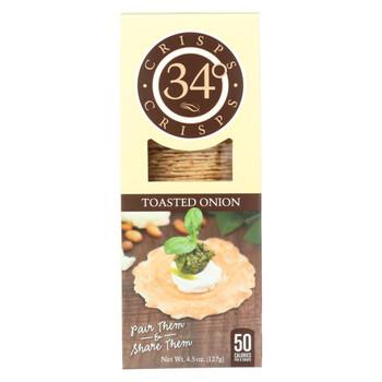 34 Degrees - Crisps - Toasted Onion - Case of 18 - 4.5 oz.