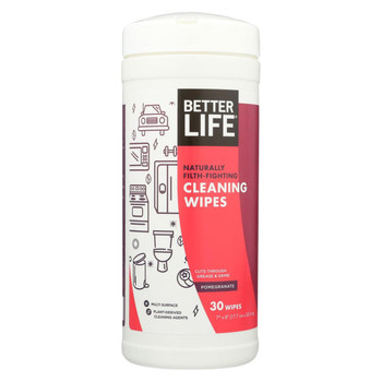 Better Life Wipes - All Purpose - Pomegranite - Case of 6 - 30 count