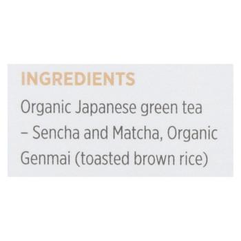 Aiya Tea - Organic Matcha - Infused Genmaicha Tea - Case of 6 - 15 Bag