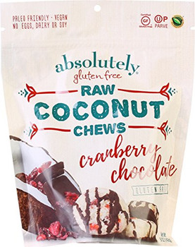 Absolutely Gluten Free Chews - Coconut - Cranberry - Gluten Free - Case of 12 - 5 oz