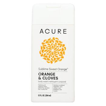 Acure Body Wash - Sweet Orange - 12 fl oz