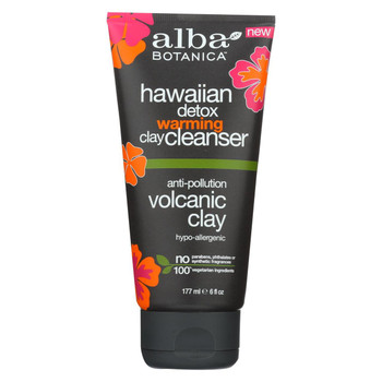 Alba Botanica - Cleanser - Hi Detx - Warmng Clay - 6 fl oz