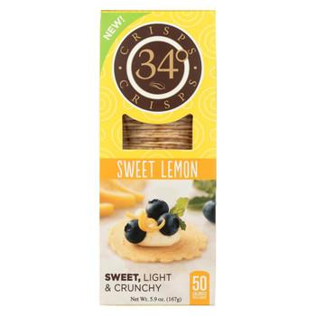 34 Degrees - Crisps - Sweet Lemon - Case of 18 - 5.9 oz.