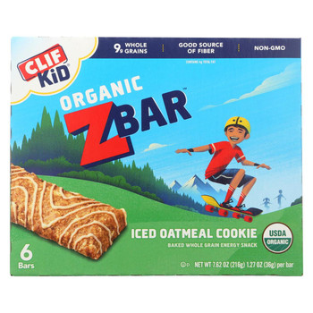 Clif Kid Zbar - Iced Oatmeal Cookie - Case of 9 - 7.62 oz
