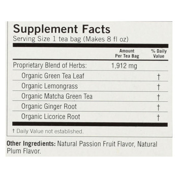 Yogi Tea - Organic - Green - Passionfruit Matcha - Case of 6 - 16 BAG
