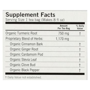 Yogi Tea - Organic - Honey Chai Turmeric - Case of 6 - 16 BAG