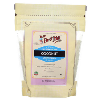 Bob's Red Mill - Coconut Fine Macaroon - Case of 4-12 oz