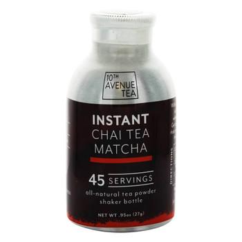 10th Avenue Tea - Tea Chai Matcha Instant - Case of 6-0.95 oz