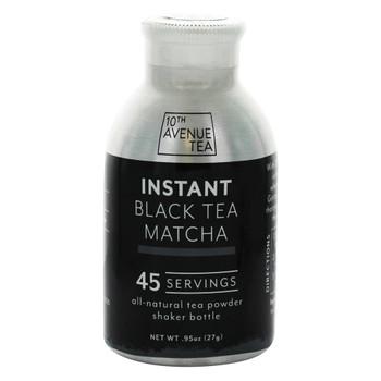 10th Avenue Tea - Instant Matcha Tea - Black - Case of 6 - 0.95 oz.