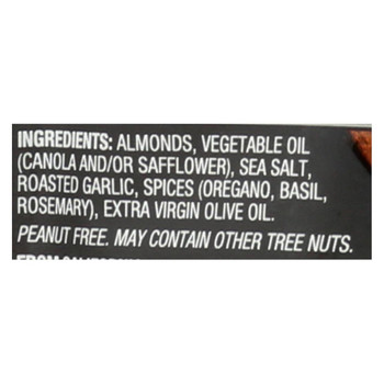 Blue Diamond Almonds - Garlic and Olive Oil - Case of 6 - 5 oz.