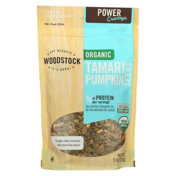 Woodstock Organic Tamari Pumpkin Seeds - 9 oz.