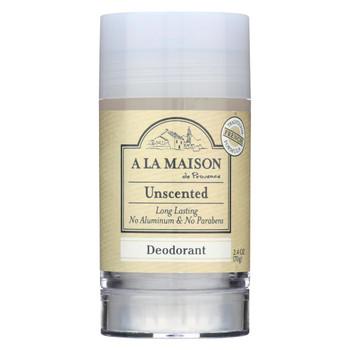 A La Maison - Deodorant - Unscented - 2.4 Oz