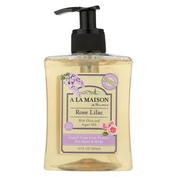 A La Maison Liquid Hand Soap - Rose Lilac - 10 fl oz.