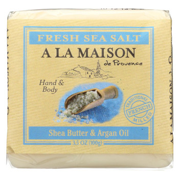 A La Maison - Bar Soap - Fresh Sea Salt  - Case Of 6 - 3.5 Oz