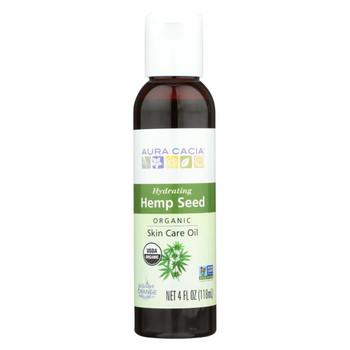 Aura Cacia - Body Oil - Hemp Seed - Case of 1 - 4 fl oz.