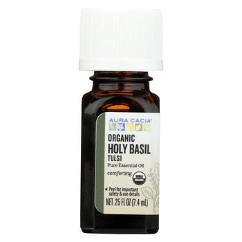 Aura Cacia - Essential Oil - Holy Basil - Case of 1 - .25 fl oz.