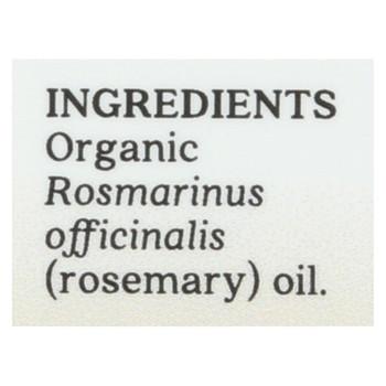 Aura Cacia - Essential Oil - Rosemary Verbenone - Case of 1 - .25 fl oz.