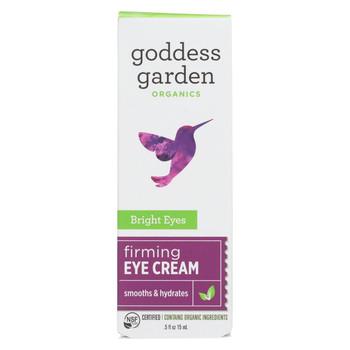 Goddess Garden Bright Eyes Firming Eye Cream - Case of 4 - .5 fl oz.