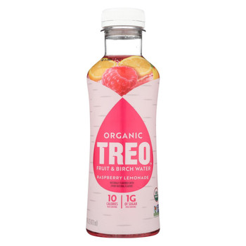 Treo Birch Water Beverage - Raspberry Lemonade - Case of 12 - 16 fl oz.