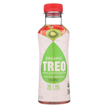 Treo Birch Water Beverage - Kiwi Watermelon - Case of 12 - 16 fl oz.
