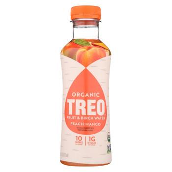Treo Birch Water Beverage - Peach Mango - Case of 12 - 16 fl oz.