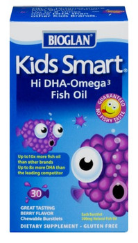 Bioglan Smart Kids - Omega 3 Brain Formula - 30 Soft Gels