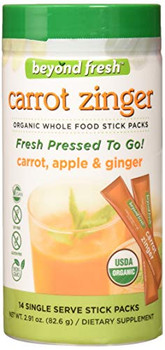 Beyond Fresh - Fresh Pressed to Go - Carrot Zinger -  Carrot Apple and Ginger -14 Count