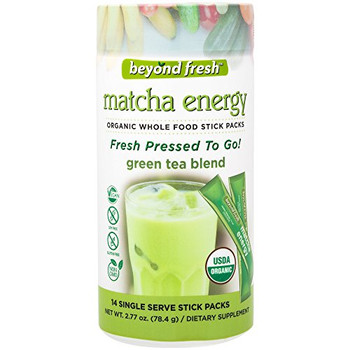 Beyond Fresh - Fresh Pressed to Go - Matcha Energy -  Green Tea Blend - 14 Count
