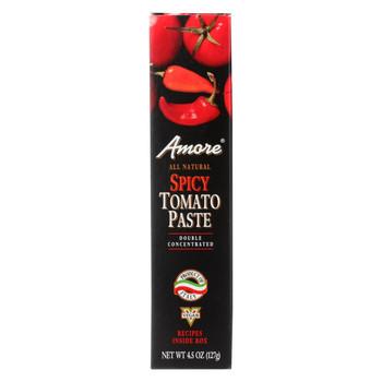 Amore - Tomato Paste - Spicy - Case of 12 - 4.45 oz.