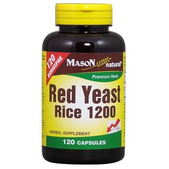 Mason Naturals - Red Yeast Rice 1200 - 120 Capsules