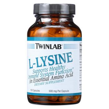 Twinlab L-Lysine - 500 mg - 100 Capsules
